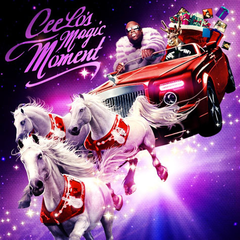 Here is Cee Lo Green's cover for his Christmas album. Someone is going to have to tell Cee Lo Green to stop it.