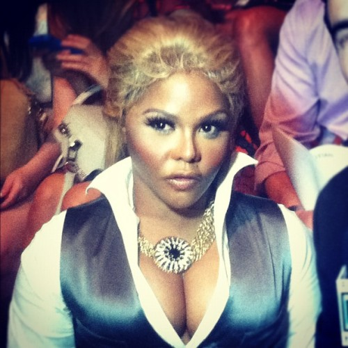 Spotted #LilKim during Fashion Week! What do you think?!? #mbfw #nyfw #flordemariafashion  (Taken with Instagram)