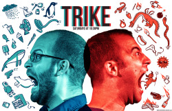 Also: new poster for TRIKE at Magnet Theater (@magnettheater)! Trike is Nick Kanellis and Peter McNerney. Photo by James Daniel.