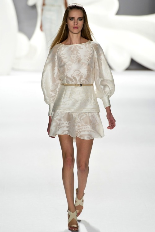 Collection: Carolina Herrera S/S 2013 Who we see wearing this piece: Victoria Justice Who would you like to see wearing this on the red carpet?