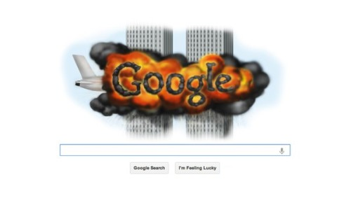 theonion:  Google's 9/11 Homepage Design Stirs Controversy