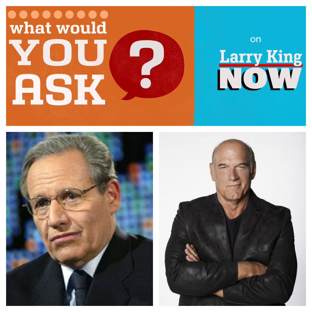 QUESTION CALLOUT: Larry King wants your questions for Bob Woodward & Jesse Ventura - what do you want to know? Reblog this post and post your question in the comments