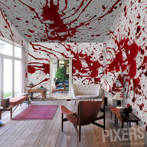 (via For The Wannabe Axe Murderer: Bloody Wall Paper | Incredible Things)
