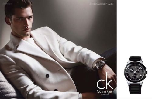 Sean O'Pry by Patrick Demarchelier - Calvin Klein Watches F/W 2012 Campaign