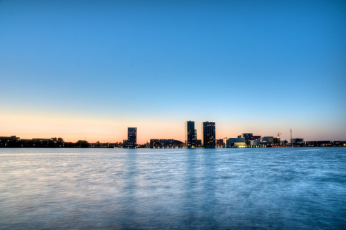 Skyline of Almere, Flevoland, the Netherlands (by sonicwalker)