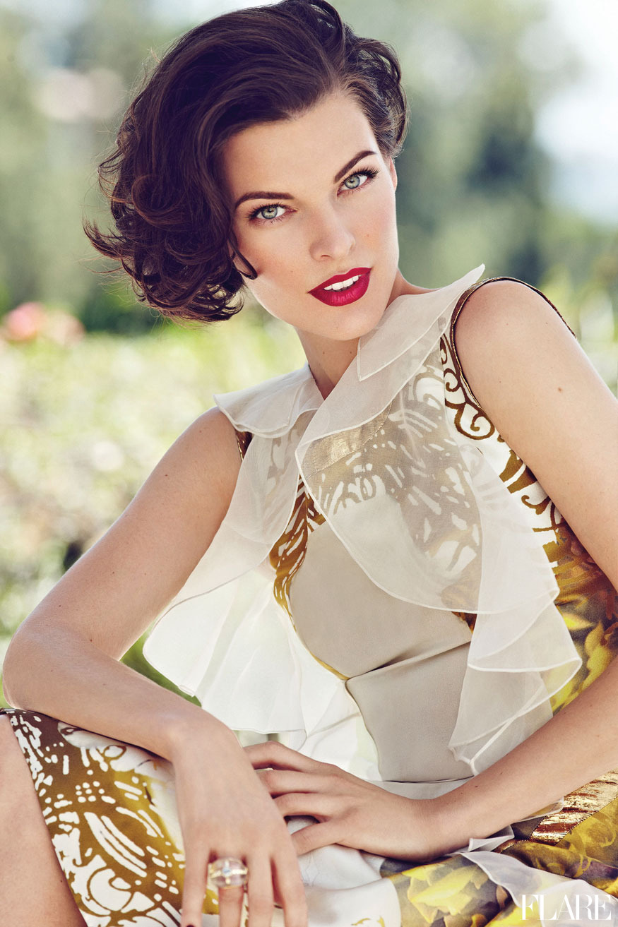 Milla Jovovich - October 2012 / Fashion Director: Elizabeth Cabral / Acting Art Director: Benjamin MacDonald / Photographer: Max Abadian Video: See Milla in action on the set of her FLARE cover shoot and preview our cover story.