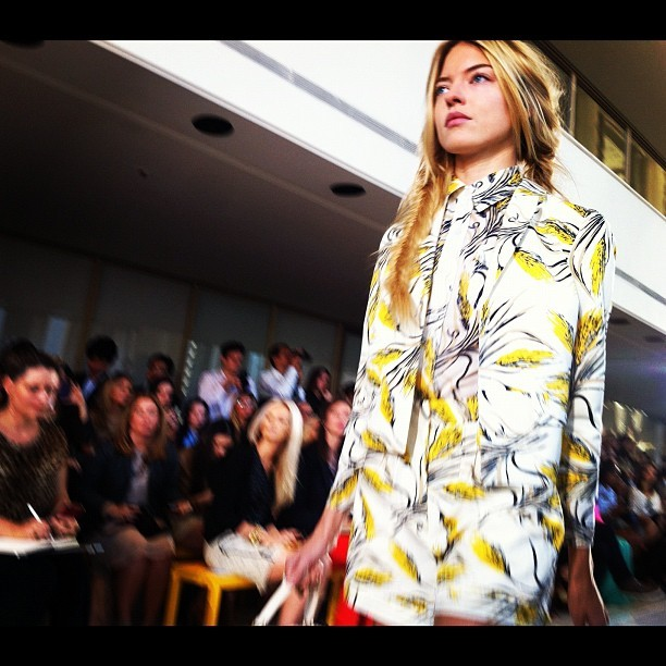 I'll never tire of a yellow and white print ensemble #nyfw @Toryburch (Taken with Instagram)