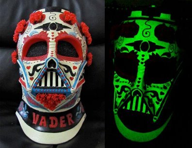 I am pleased to announce my GLOW IN THE DARK Star Wars Dia De Los Muertos Darth Vader Helmet is coming to Stan Lee's Comikaze for one day only! <3 http://www.denisevasquez.com/2012/09/the-star-wars-dia-de-los-muertos-glow.html