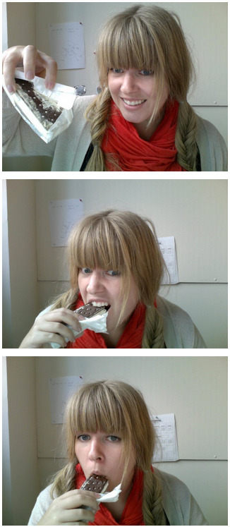 Attempting to eat astronaut ice cream at my desk.