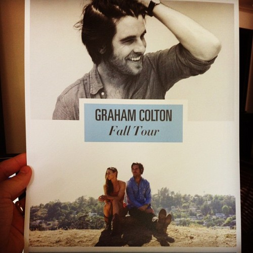 New tour posters! Tag #coltontour2012 w/ show you're attending and 1 is yours! (Taken with Instagram)