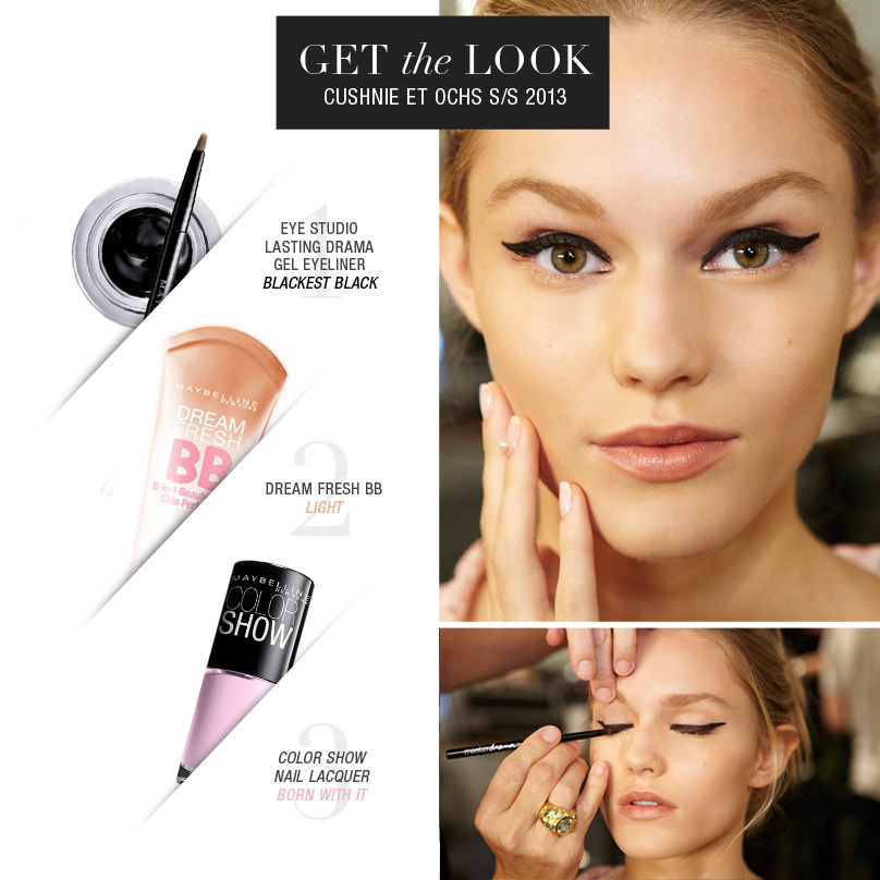maybelline:  Recreate this runway look from Cushnie et Ochs.