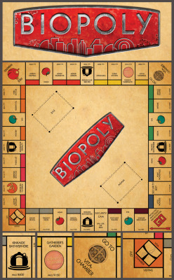 devogeldesign:  I decided to make a Bioshock themed Monopoly. It's a work in progress but I think I have the board pretty much done. I am also looking for some critiques.