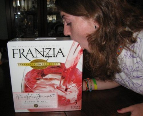 Girl Vomits Box of Franzia Sunset Blush: Oaky with a hint of stomach acid.