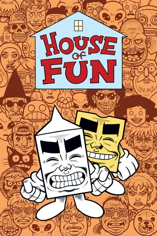 This is the cover for the House Of Fun one-shot, drawn by Evan Dorkin, coming from Dark Horse in December. It's a compilation of the strips from Dark Horse Presents earlier this year, including Milk and Cheese and a new Eltingville Club story. I for one will be buying it when it comes out.