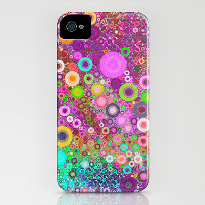 (via Retro Circles iPhone Case by favoritedarkness | Society6)