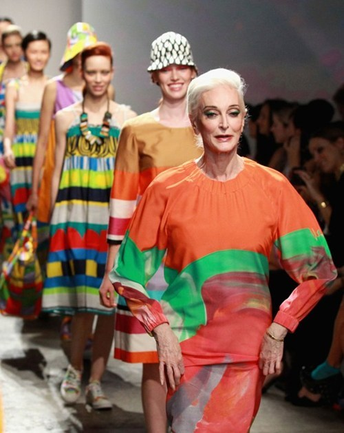 thedailywhat:  81-year-old Runway Model of the Day: Meet Carmen Dell'Orefice and her perfectly sculpted cheekbones. The 81-year-old walked the runway put the rest of us to shame Monday night at New York Fashion Week. NBD. [yahoo]