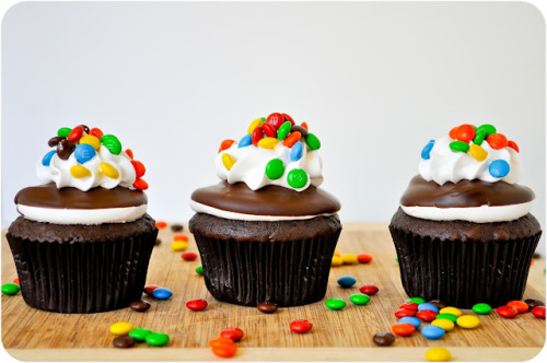 foodfuckery:  M&M Cupcakes Recipe