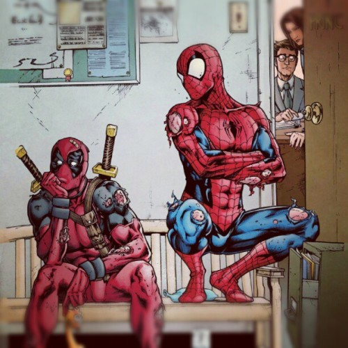 Looks like #deadpool and Spidey are in trouble.  (Taken with Instagram)