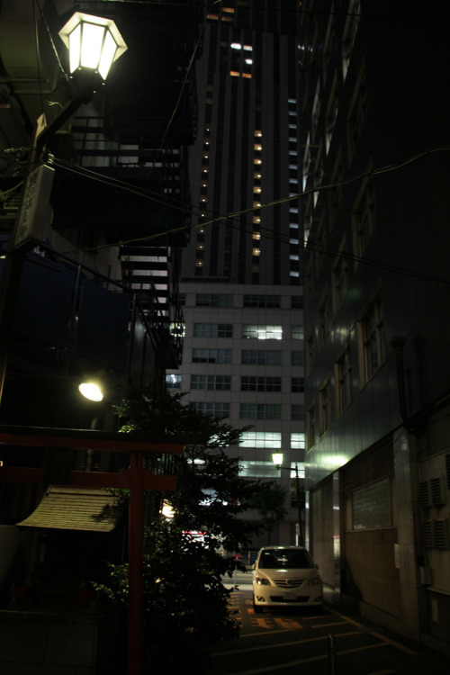eveninghaze:  the deep in the city  Yaesu, Tokyo Japan Credits : OiMax on Flickr.