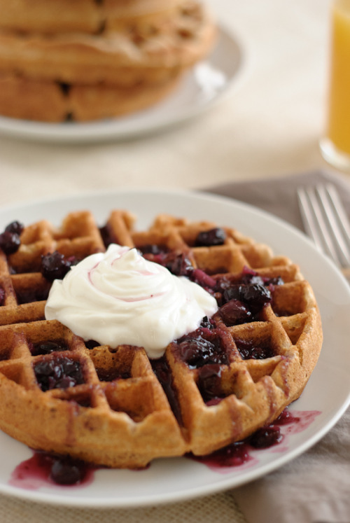 (via Whole Grain Waffles Recipe - Cookie and Kate)