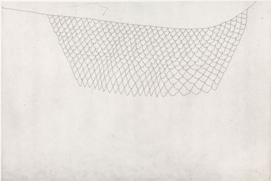 "Louise Kohrman,  The Presence of Absence II, Etching, 12"" x 18"", 2012."
