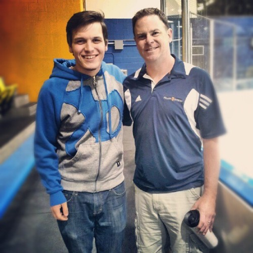 Got to Meet Shorty at the #Canucks practice today! Grew up listening to this guy on the radio. So surreal! (Taken with Instagram at UBC Thunderbird Arena)