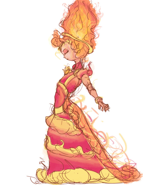 fuckyeahtheflameprincess:  Flame Princess Sketch by ~Donimie