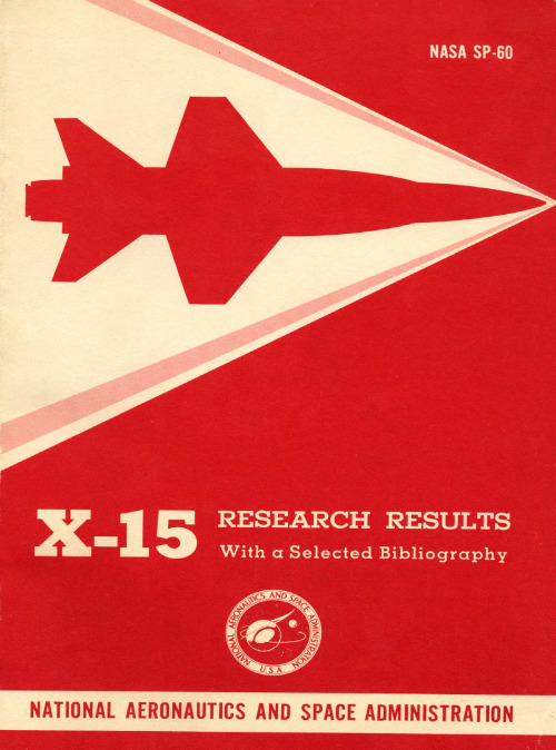 X-15 Research Results by Wendell H. Stillwell. NASA, 1965, Washington D.C. via NASA History Series Publications e-books