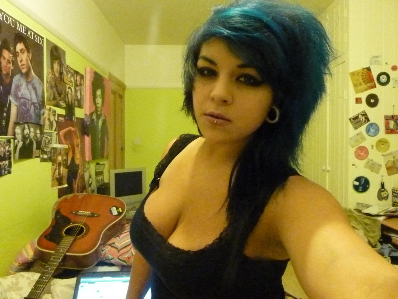 me being blue and sassy