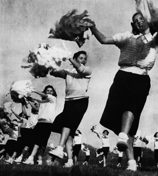 High School Cheerleaders, 1947 Beverly Hills, California  Life