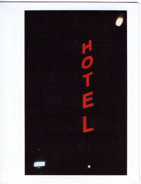 Hotel sign in Brooklyn by Instant London on Flickr.