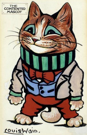 The Contented Mascot by Louis Wain Picture: Chris Beetles Gallery (via The best of British Cat Art - Telegraph)