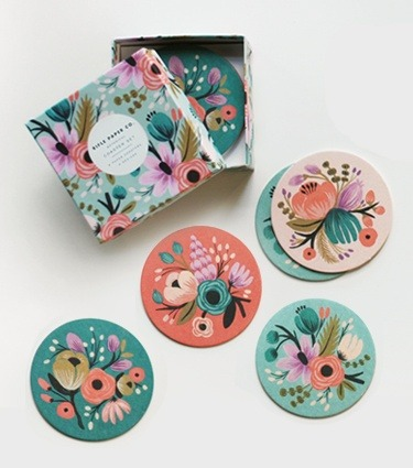 Botanical Coaster Set from Rifle Paper Co. (via Art & Photography)