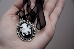 Guns N Roses Skull Cameo Necklace ~ By NeonAngelDesign