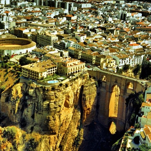 "Ronda is a city in the Spanish province of Malaga, known as ""The City of Dreams."" #GreenGuides #Michelin #Spain (Taken with Instagram)"