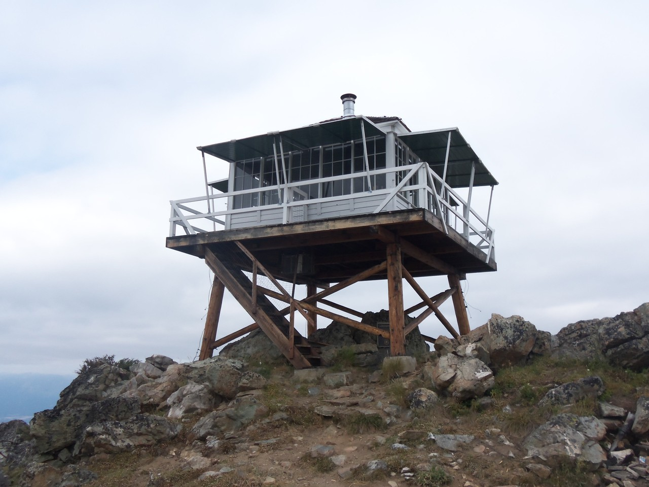 Fire lookout near Hamilton, Montana.