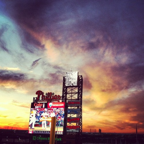 #phillies #sunset  (Taken with Instagram at Citizens Bank Park)