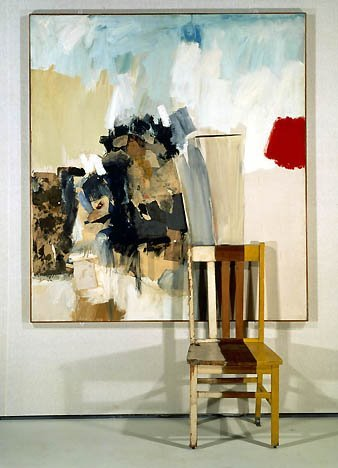 Robert Rauschenberg Pilgrim, 1950, mixed mediums with wooden chair