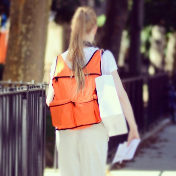 Fashion Week Backpack #fwsnaps  (Taken with Instagram)