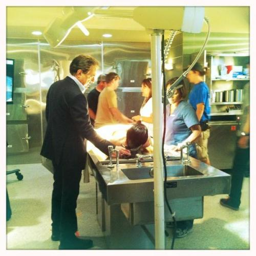 "@JoeMantegna on his mark on the set of #CriminalMinds 8x06, ""The Apprenticeship""."