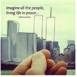 theroadtoeverything:  #neverforget #911 #riptothose #love  (Taken with Instagram)