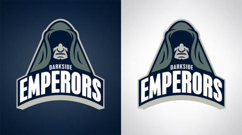 DarkSide Emperors Another Star Wars inspired sports logo design. You can pick them up as prints, t-shirts, and various phone and laptop accessories at Society6… www.society6.com/wanderingbert  Use this link by Sunday to get free shipping on any of my products! http://society6.com/wanderingbert?promo=c9d757