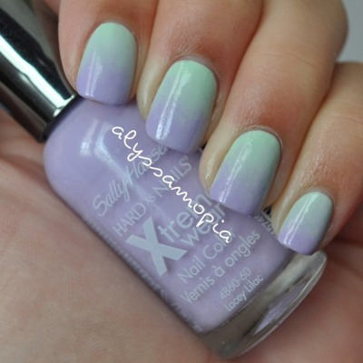Minty Lilac Gradient nails! (via Alyssa M. | Beautylish)