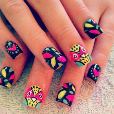 Cute owl nails! (via Jacqueline M. | Beautylish)