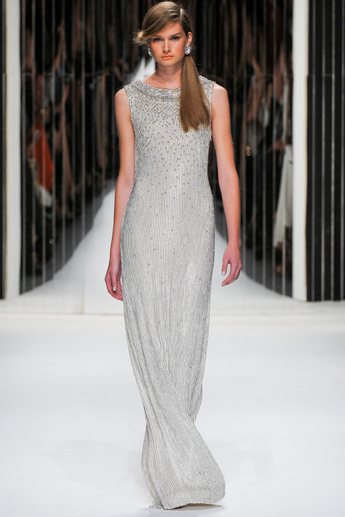 Collection: Jenny Packham S/S 2013 Who we see wearing this piece: Nicole Kidman Who would you like to see wearing this on the red carpet?