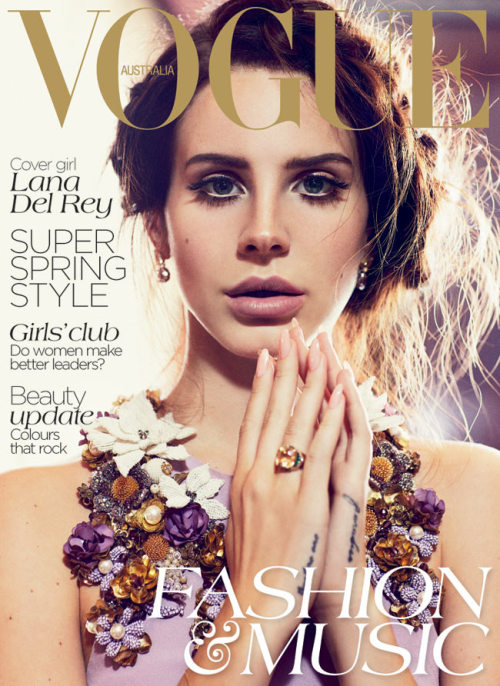 vogueaustralia:  Lana Del Rey on our October cover. What do you think? Image by Nicole Bentley.