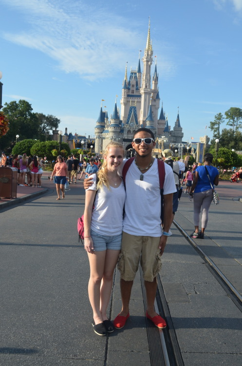 us in front of Cindy's castle <3