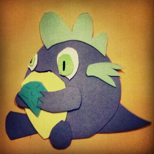 Fun with paper cutting: Spike! (Taken with Instagram)