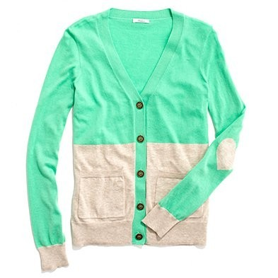 madewell colorblock cardigan