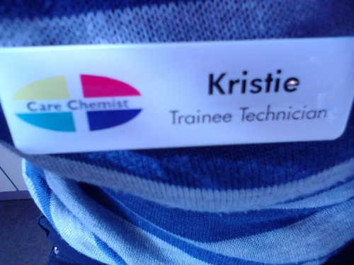 Finally got a name badge! :)